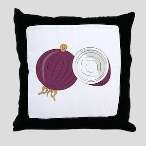 Purple Onion Throw Pillow