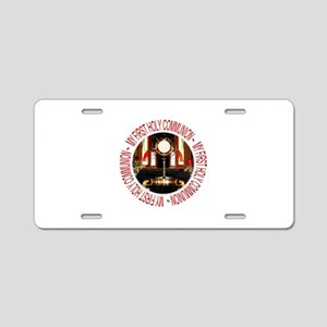 First Holy Communion Aluminum License Plate