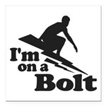 I'm on a Bolt Square Car Magnet 3