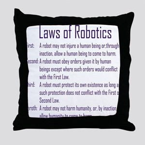 Asimov's Robot Series Laws of Robotics Throw Pillo