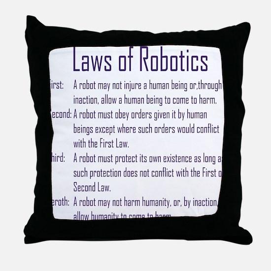 Asimov's Robot Series Laws of Robotics Throw Pillo