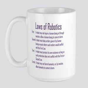 Asimov's Robot Series Laws of Robotics Large Mug