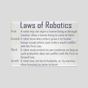 Asimov's Robot Series Laws of Robotics Rectangle M