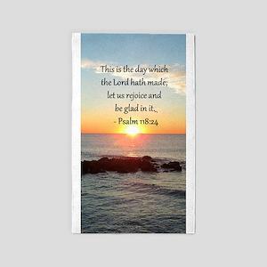 PSALM 118:24 3'x5' Area Rug