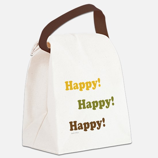 Happy! Happy! Happy! Canvas Lunch Bag