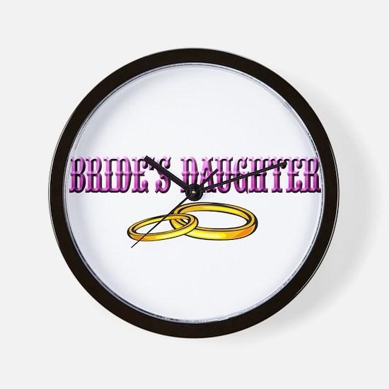 Bride's Daughter(rings) Wall Clock
