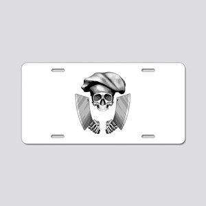 Chef skull: v1 Aluminum License Plate