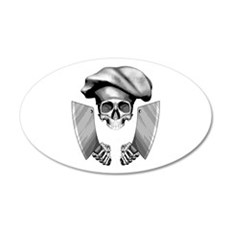 Chef skull: v1 Wall Decal