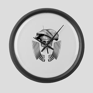 Chef skull: v1 Large Wall Clock