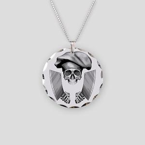 Chef skull: v1 Necklace Circle Charm