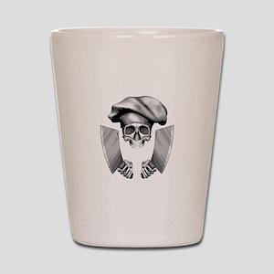 Chef skull: v1 Shot Glass
