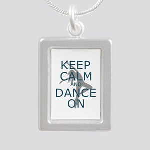 Keep Calm and Dance On Teal Necklaces