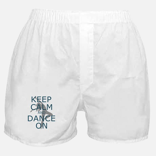 Keep Calm and Dance On Teal Boxer Shorts