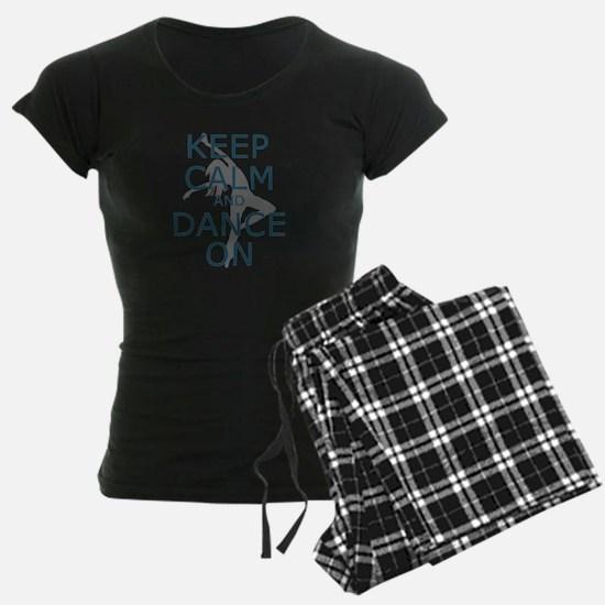 Keep Calm And Dance On Teal Pajamas