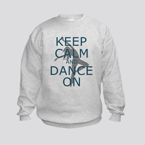 Keep Calm and Dance On Teal Sweatshirt