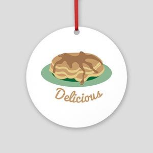 Delicious Pancakes Ornament (Round)