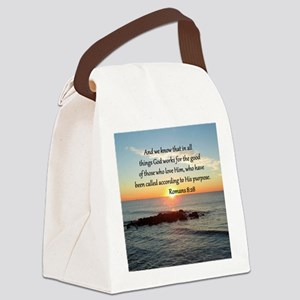 ROMANS 8:28 Canvas Lunch Bag