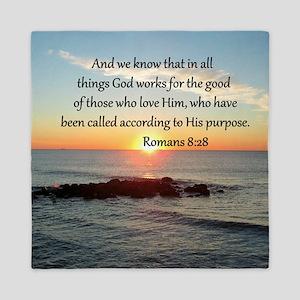 ROMANS 8:28 Queen Duvet