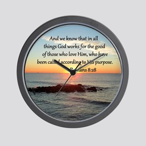 ROMANS 8:28 Wall Clock