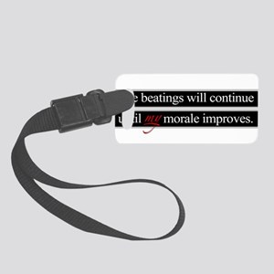 Beatings Morale Small Luggage Tag