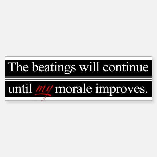 Beatings Morale Sticker (Bumper)