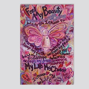 Pink Cancer Angel Postcards (Package of 8)