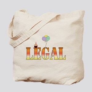 Finally Legal Birthday Tote Bag
