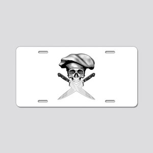 Chef skull: v2 Aluminum License Plate