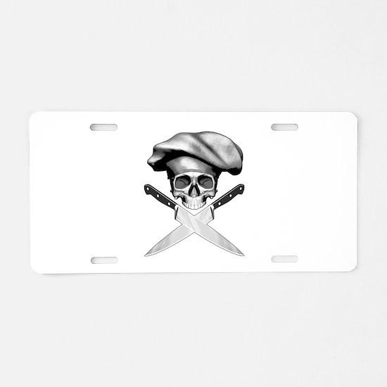 Chef skull: v2 Aluminum License Plate