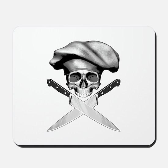 Chef skull: v2 Mousepad