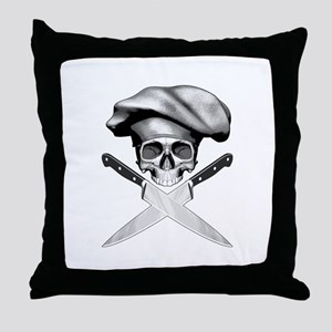 Chef skull: v2 Throw Pillow