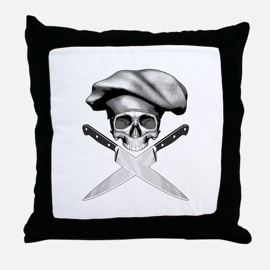 Chef skull: v2 Throw Pillow