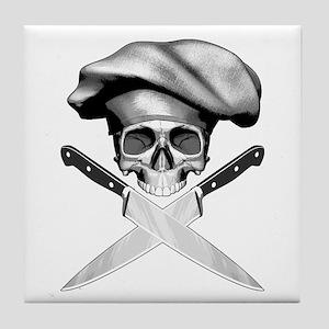 Chef skull: v2 Tile Coaster
