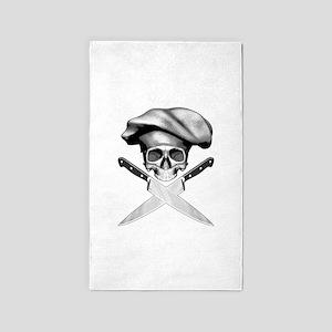 Chef skull: v2 Area Rug