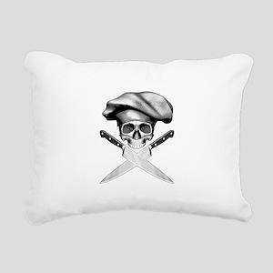 Chef skull: v2 Rectangular Canvas Pillow