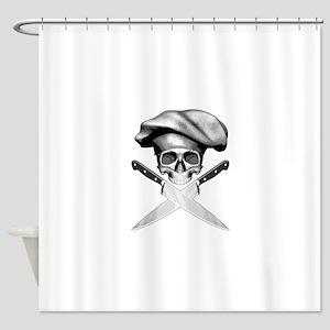 Chef skull: v2 Shower Curtain