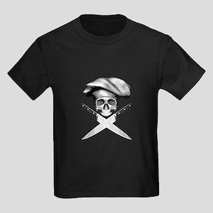 Chef skull: v2 Kids Dark T-Shirt