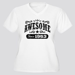 Awesome Since 195 Women's Plus Size V-Neck T-Shirt