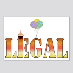 Finally Legal Birthday Postcards (Package of 8)