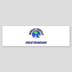 World's Greatest GREAT GRANDSON Bumper Sticker