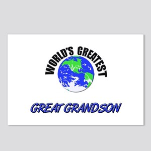 World's Greatest GREAT GRANDSON Postcards (Package