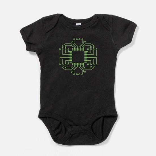 Electric Circuit Board Processor Baby Bodysuit