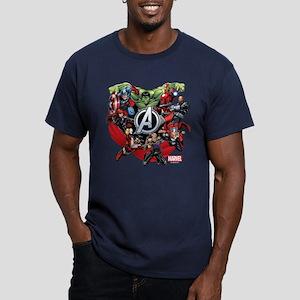 Avengers Group Men's Fitted T-Shirt (dark)