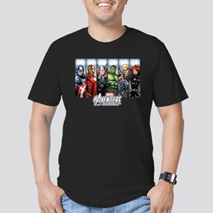 Avengers Assemble Char Men's Fitted T-Shirt (dark)