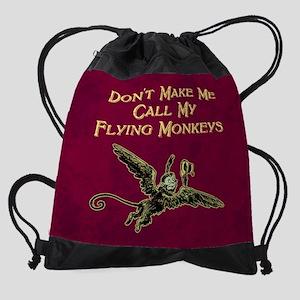 Call My Flying Monkeys Drawstring Bag