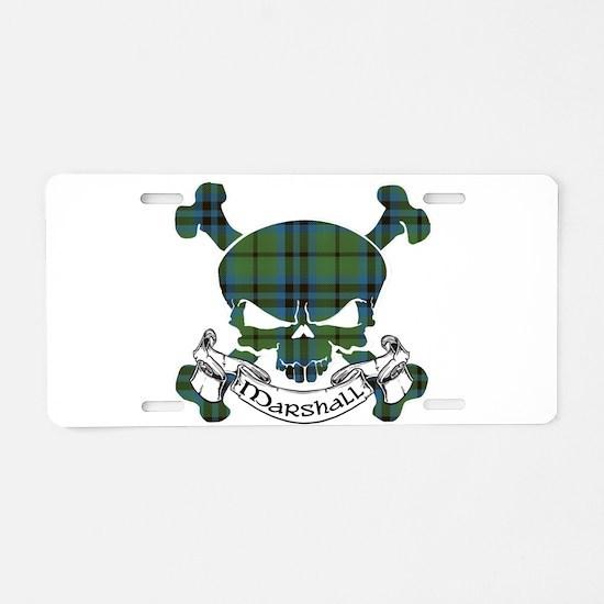 Marshall Tartan Skull Aluminum License Plate
