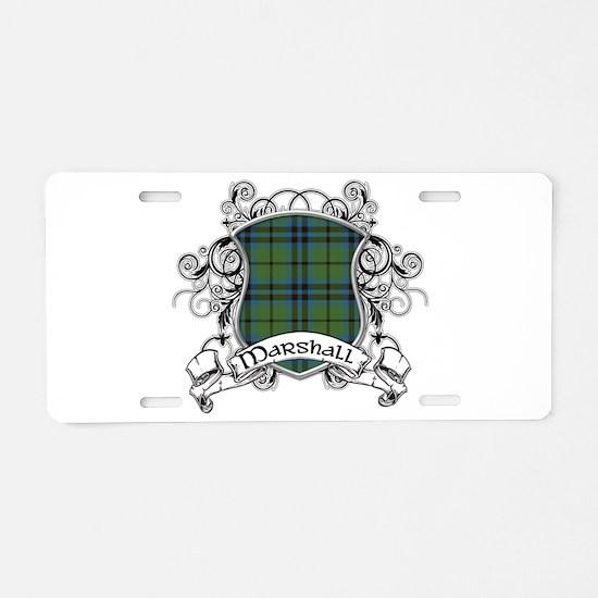 Marshall Tartan Shield Aluminum License Plate