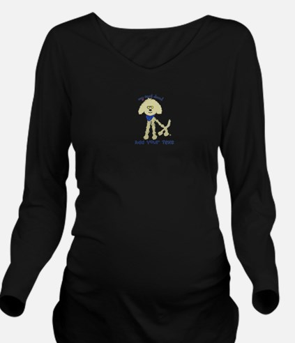 Personalized Goldend Long Sleeve Maternity T-Shirt