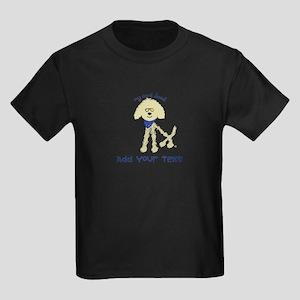 Personalized Goldendoodle Kids Dark T-Shirt