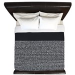 Riverside Black King Duvet